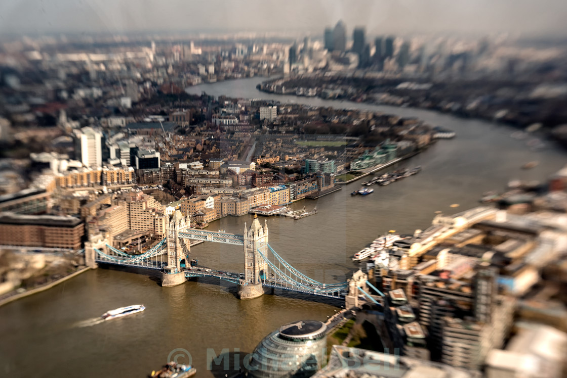 """""""Tower Bridge from the Shard"""" stock image"""