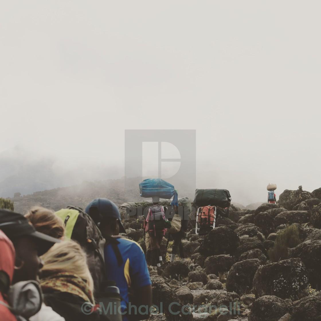 """Kilimanjaro Trek"" stock image"
