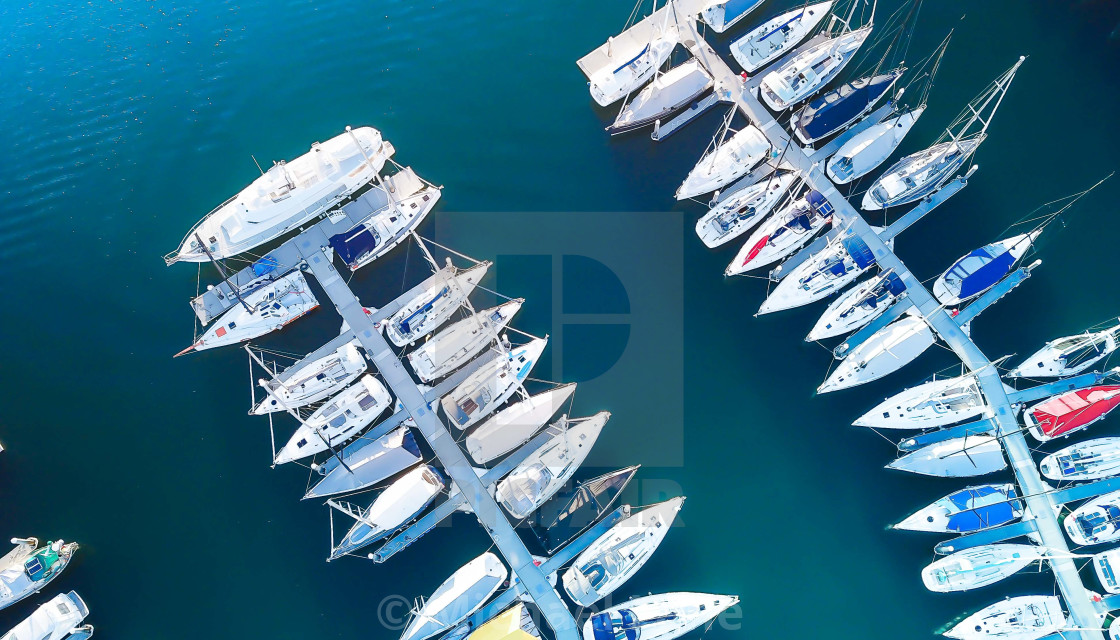 """Marina and boats"" stock image"