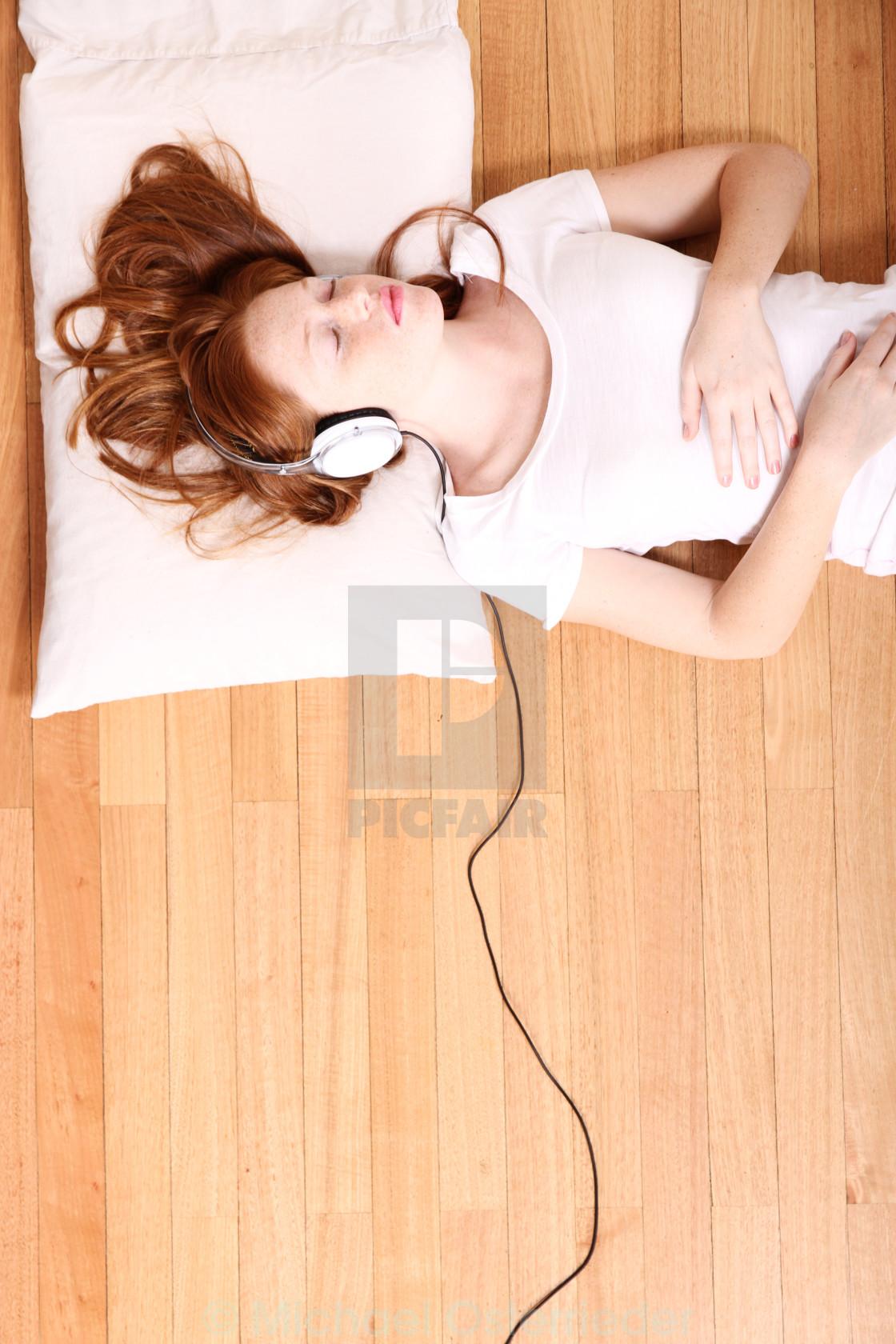 """Listening Music"" stock image"
