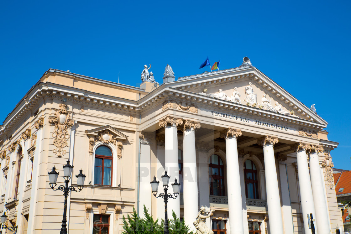 """""""The national Theater in Oradea"""" stock image"""