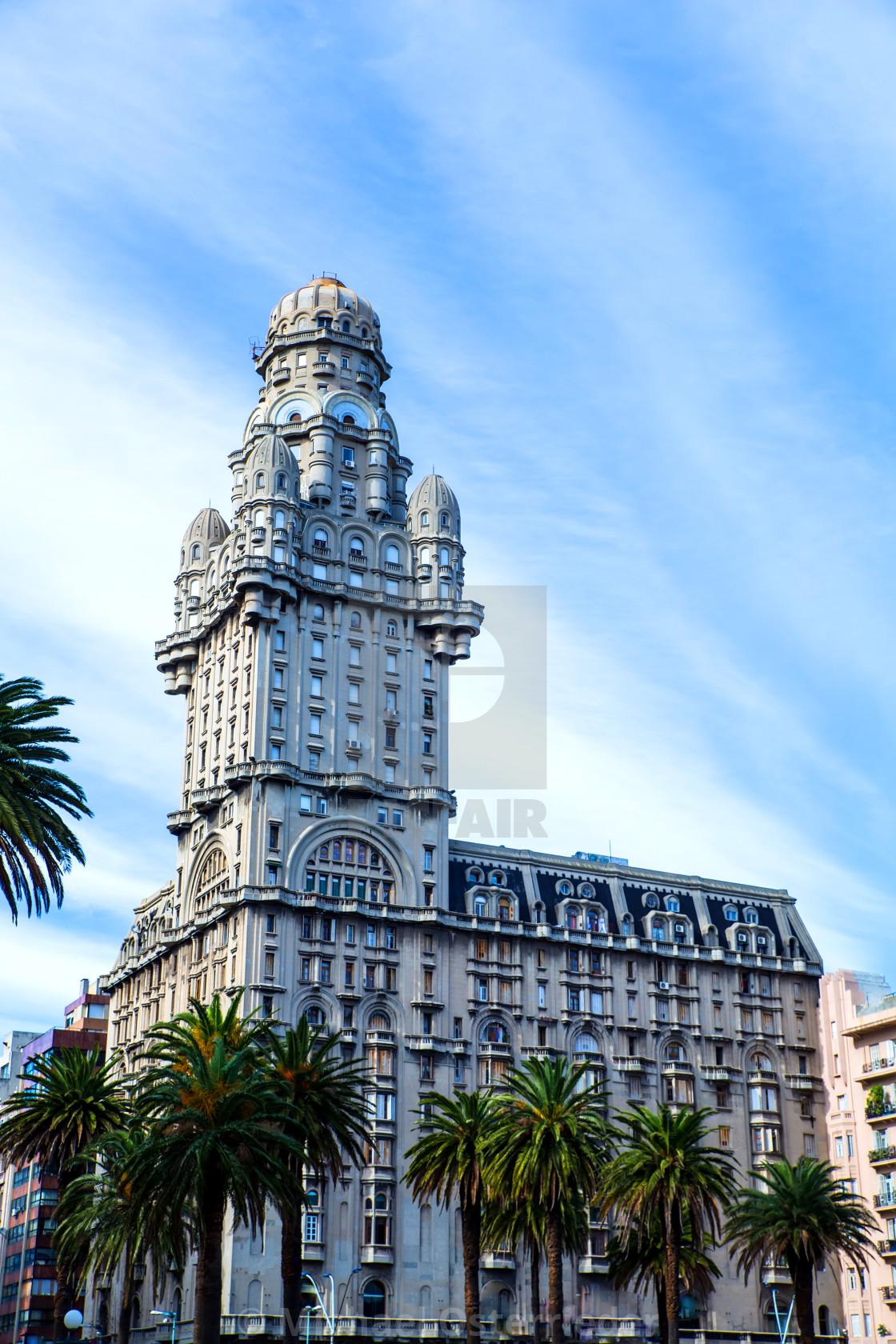 """""""Palacio Salvo in Montevideo"""" stock image"""