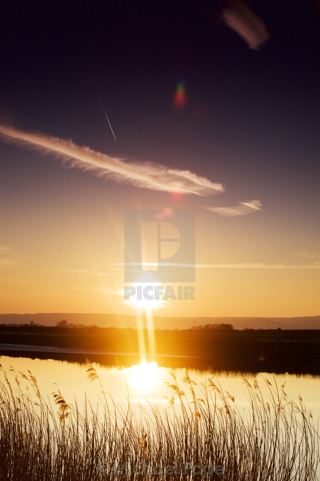 """River Sunset"" stock image"