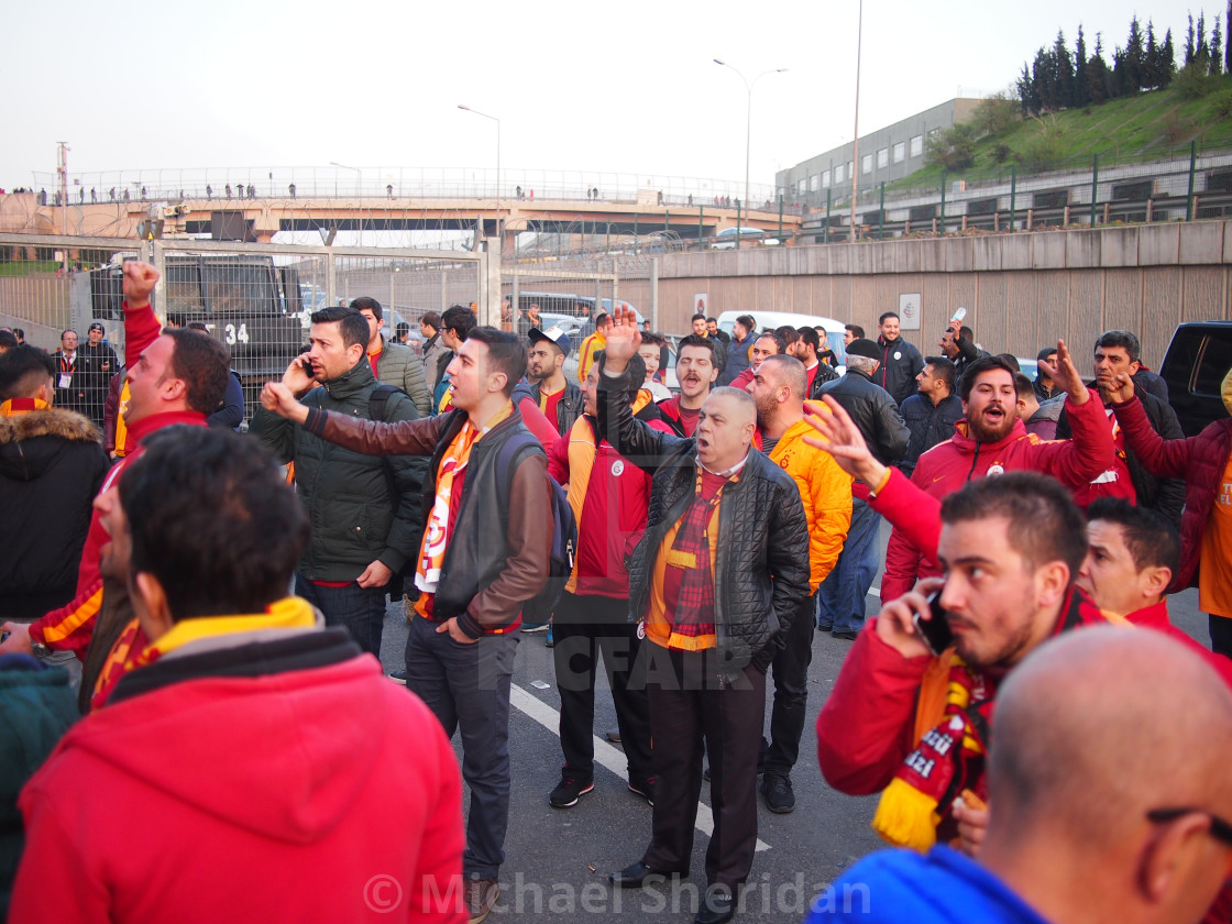 """Galatasaray v Fenerbache Bomb Threat"" stock image"