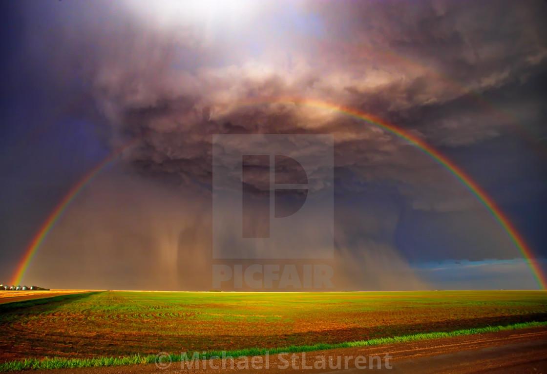 """""""rainbow storm"""" stock image"""