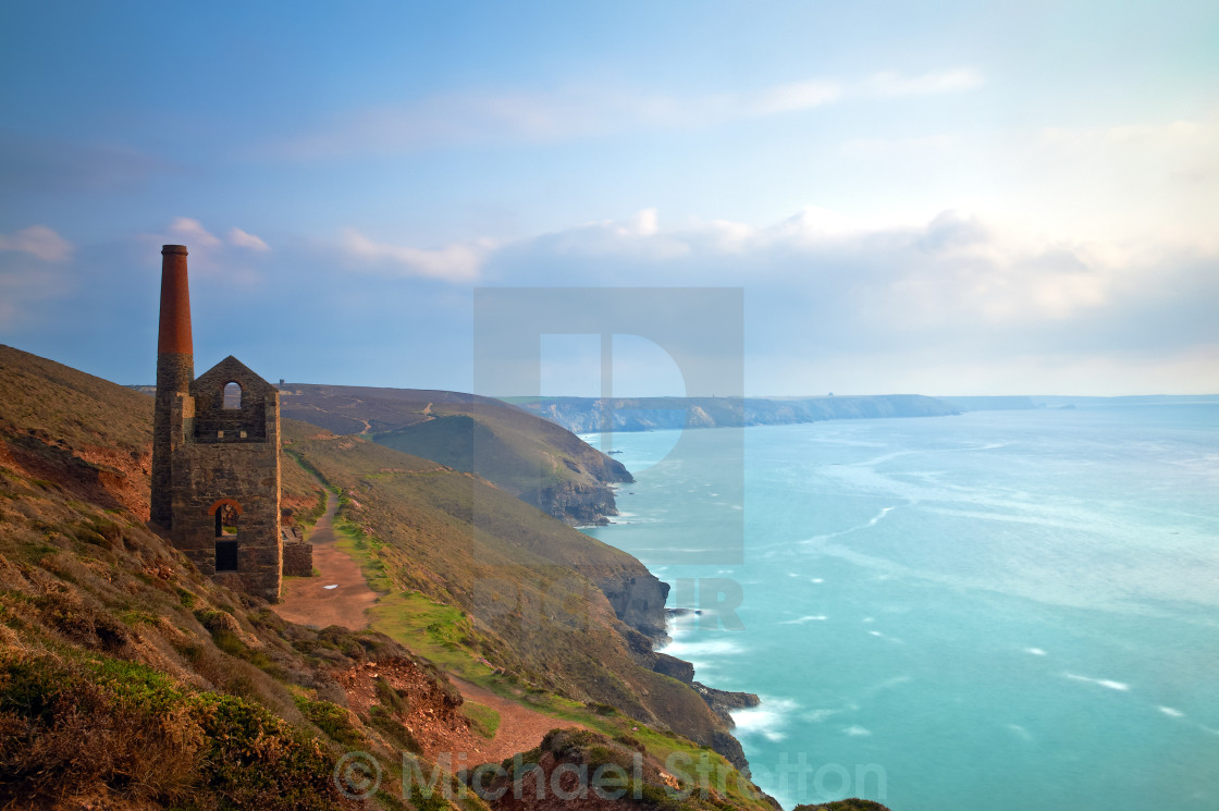 """Wheal Coates Tin Mine II"" stock image"