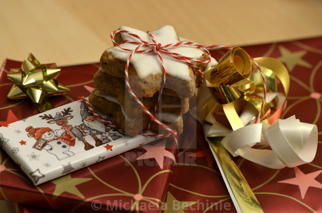 German Christmas Gifts.Christmas Gifts With Cinnamon Stars License Download Or