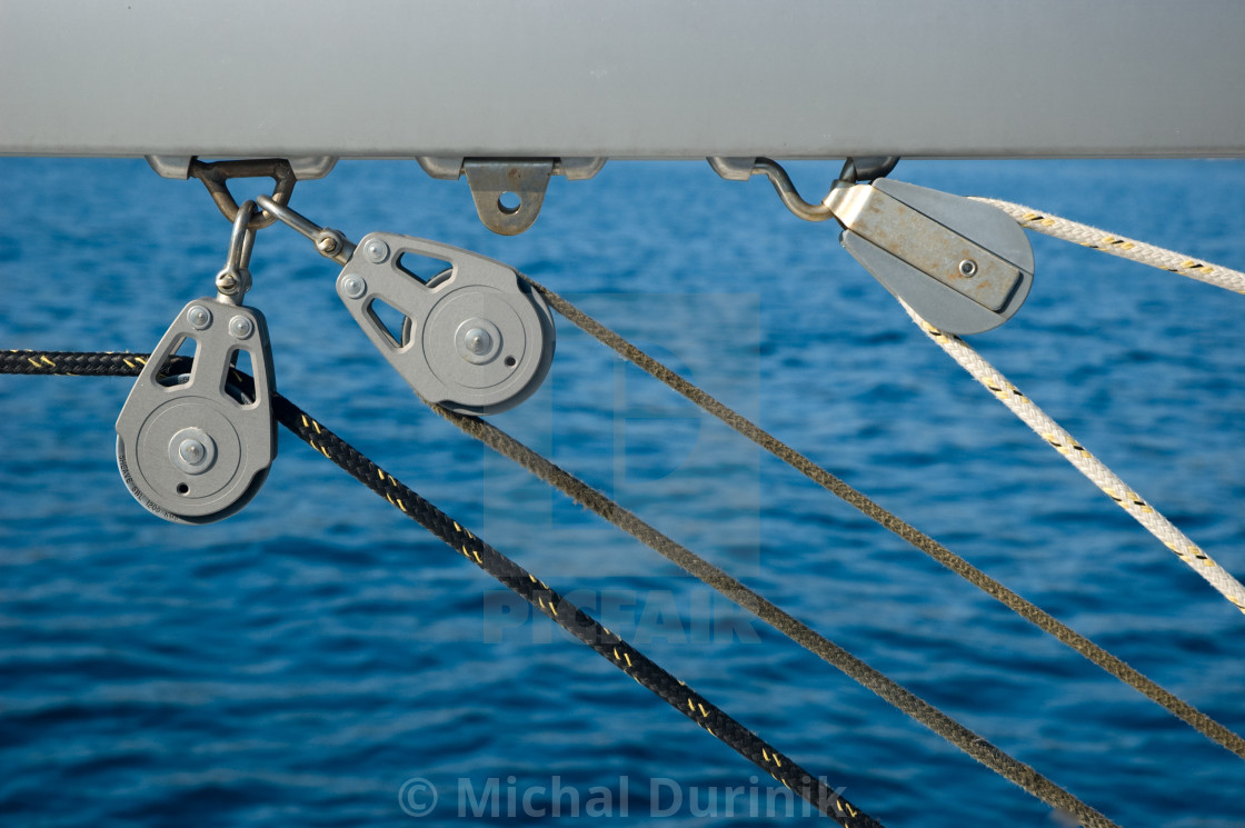 """Yacht rigging"" stock image"