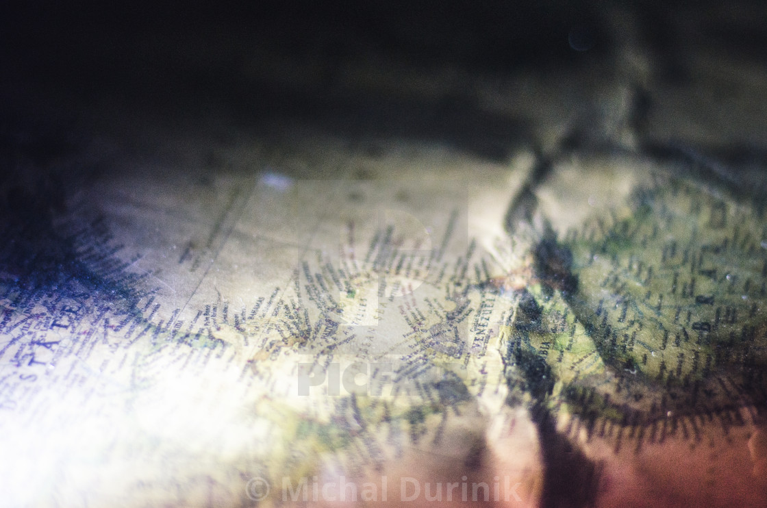 """Vintage map close-up"" stock image"