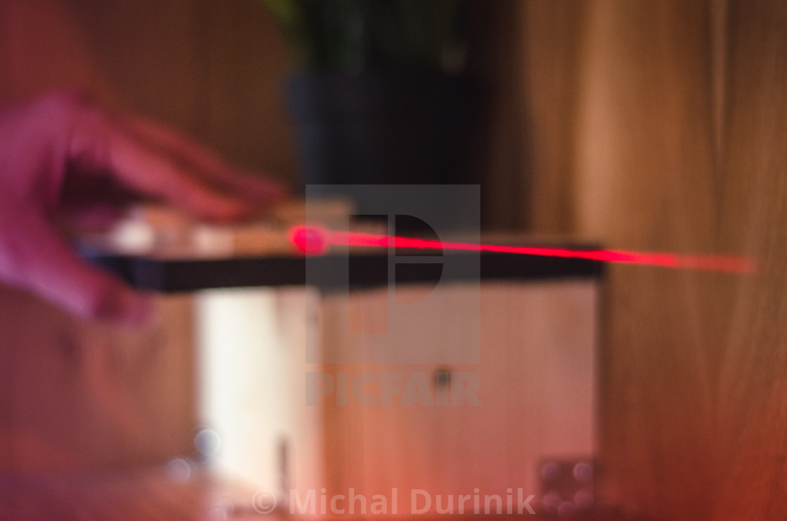 """Laser beam used in construction"" stock image"