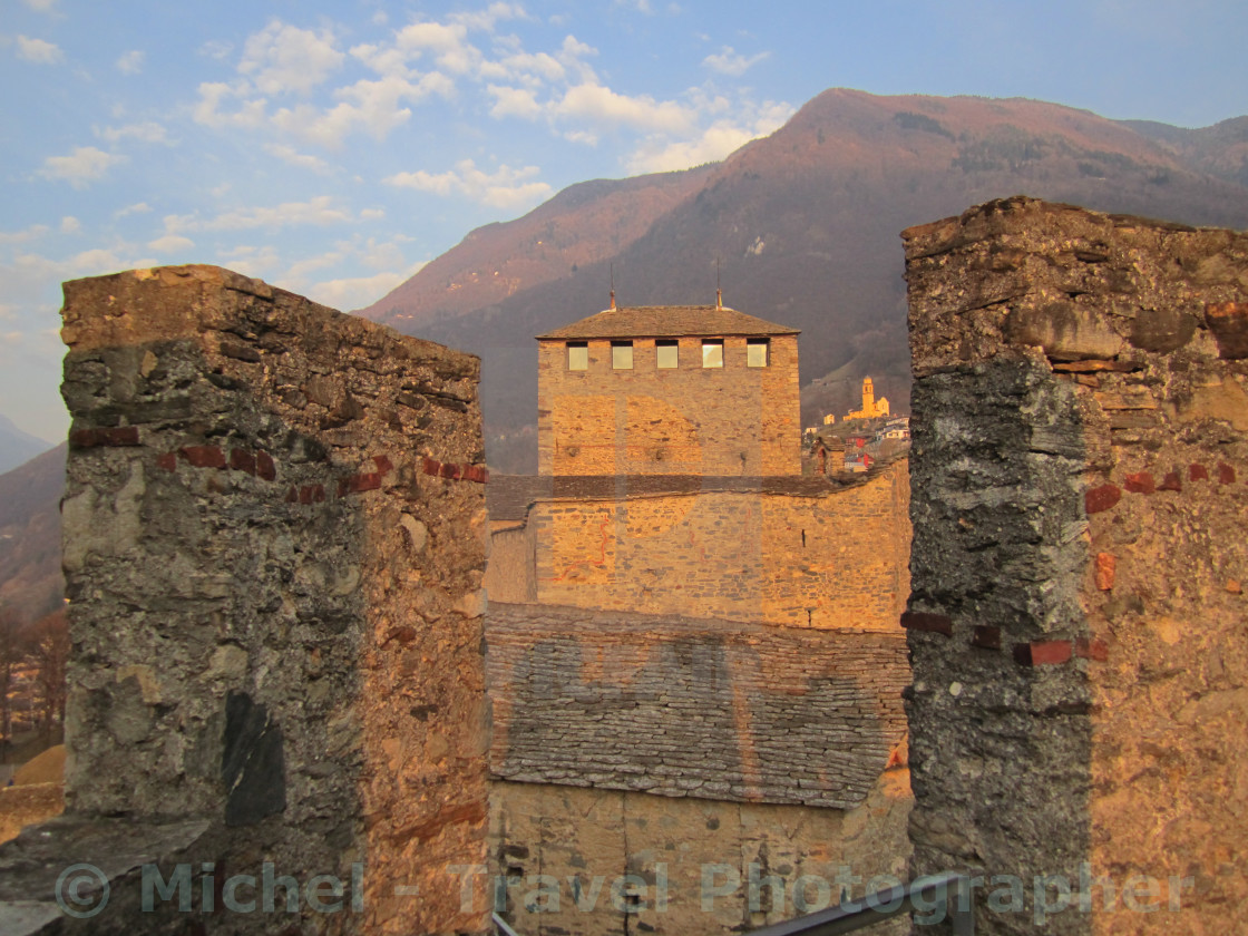 """Montebello - Bellinzona, Switzerland"" stock image"