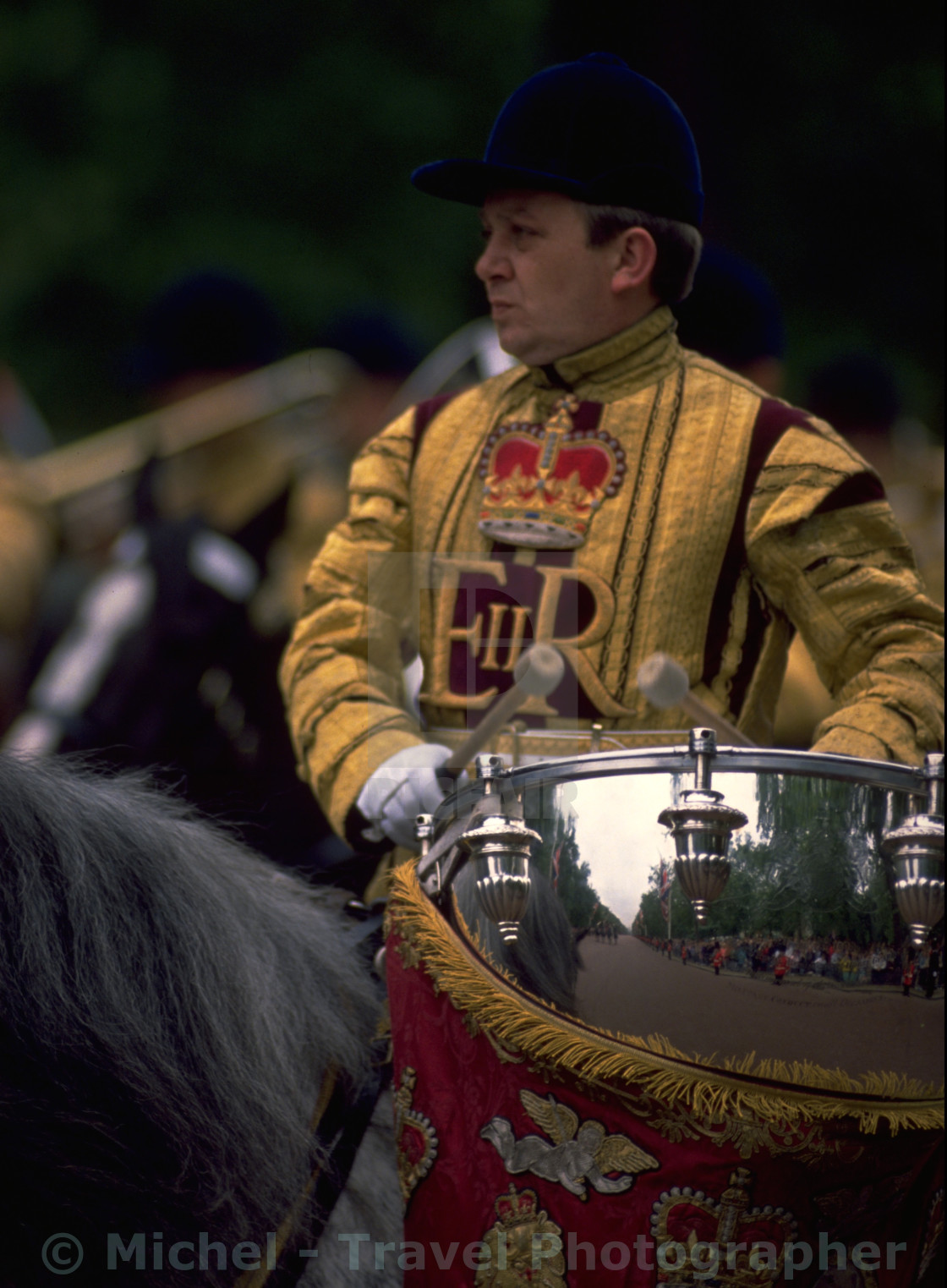 """Drum Horse at Trooping The Colour"" stock image"