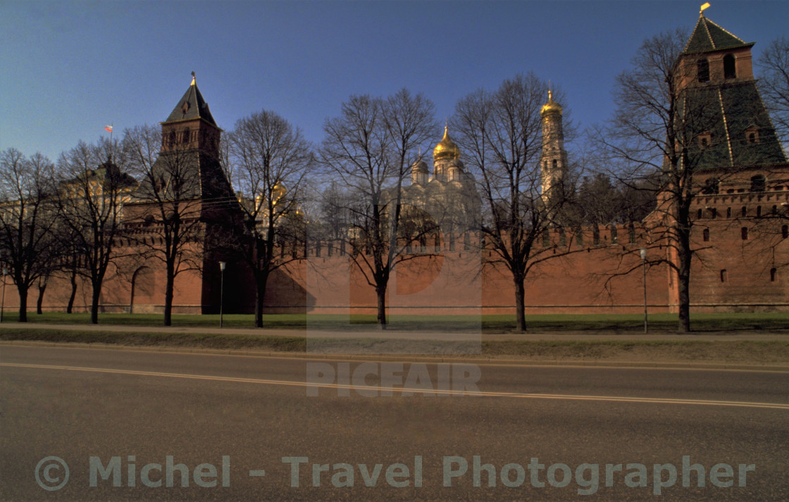 """Moscow Kremlin in Winter"" stock image"