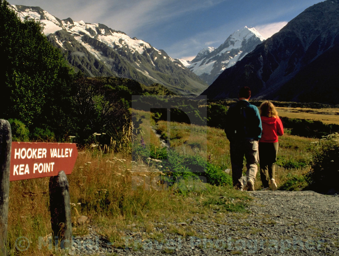 """Hooker Valley or Key Point"" stock image"