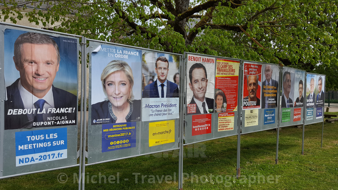 """2017 French Presidential Candidates"" stock image"