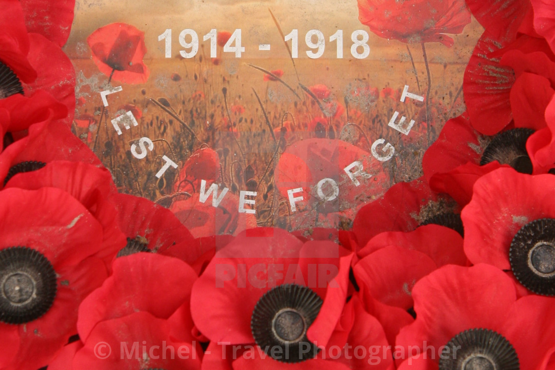 """Lest We Forget - 1914-1918"" stock image"