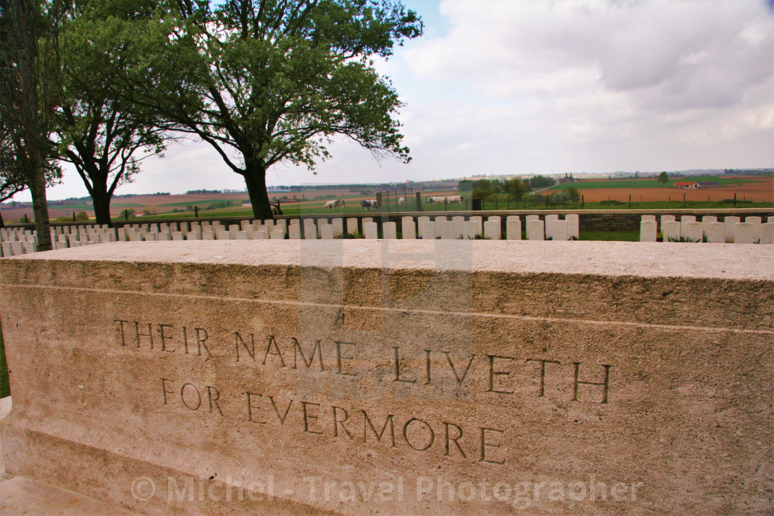 """Their Name Liveth For Evermore"" stock image"
