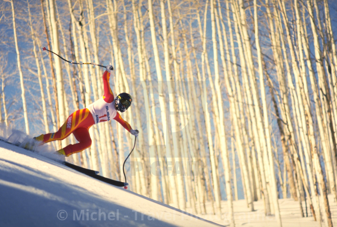 """Skiing in Aspen, Colorado"" stock image"