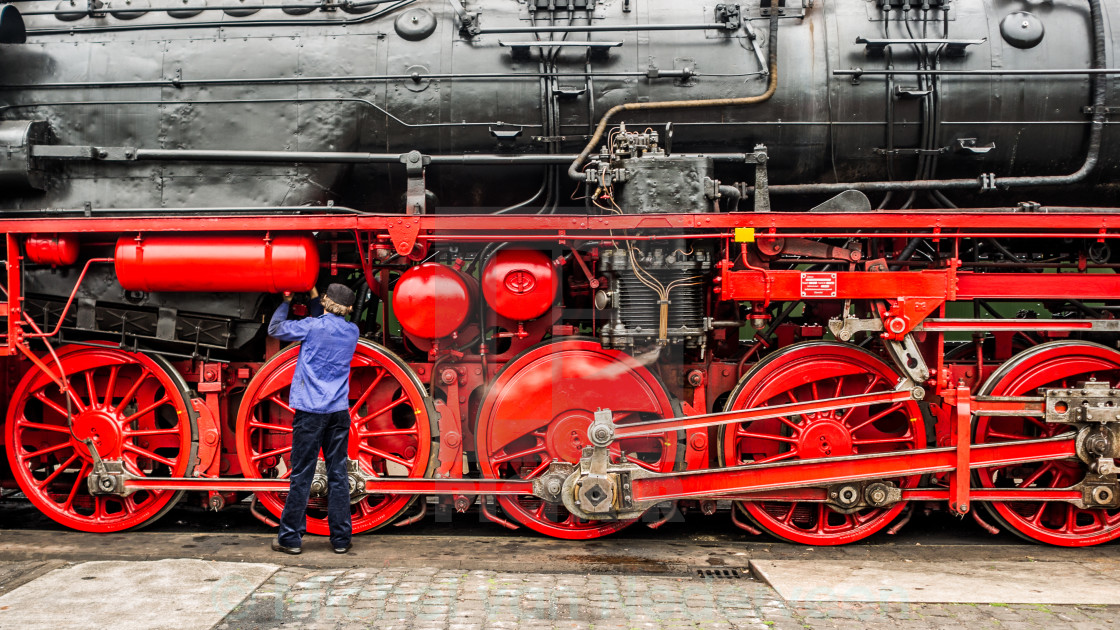 """Steam locomotive"" stock image"