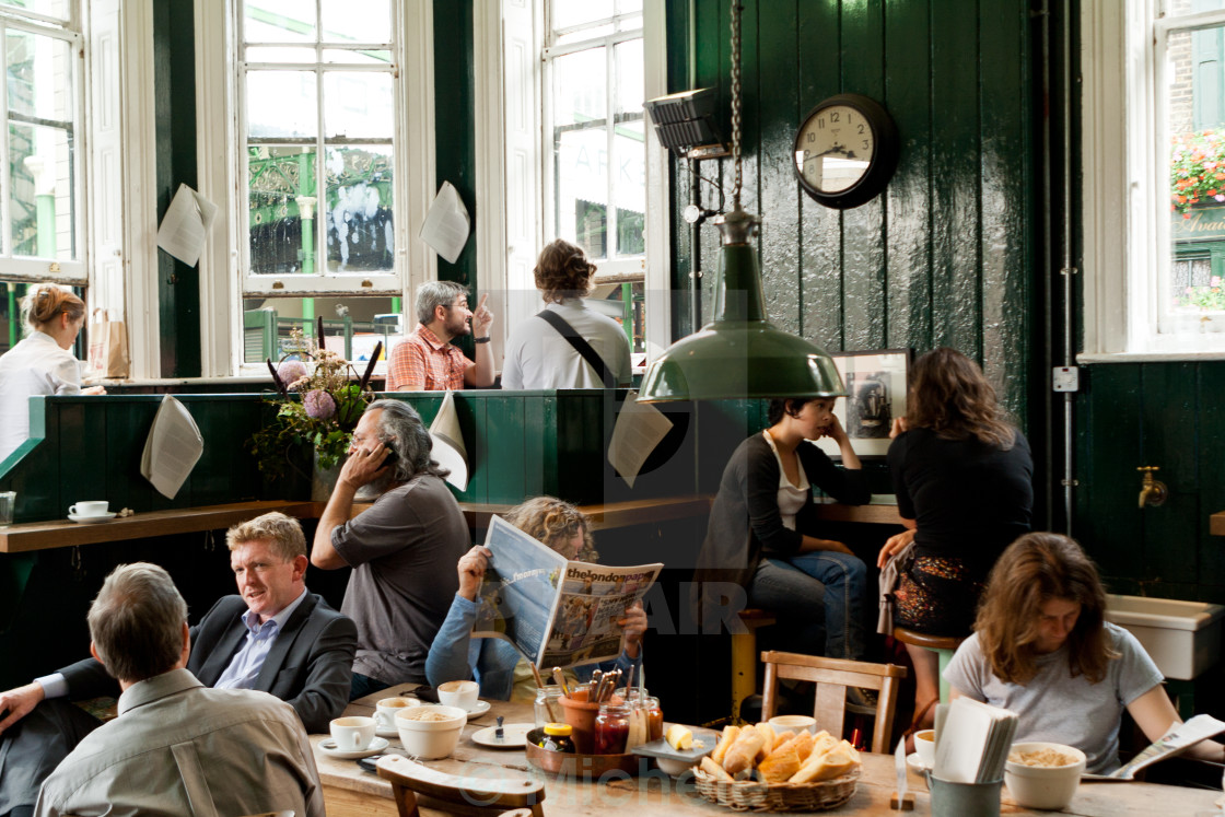 """Cafe in Borough Market, London"" stock image"