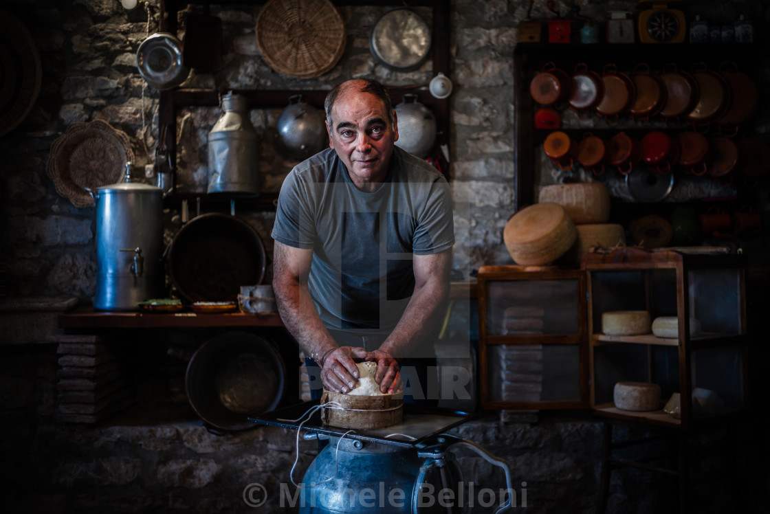 """The Cheesemaker - Amiata Arts & Crafts"" stock image"