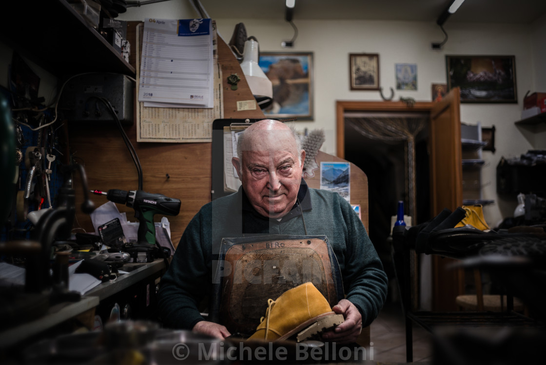 """The Cobbler - Amiata Arts & Crafts"" stock image"