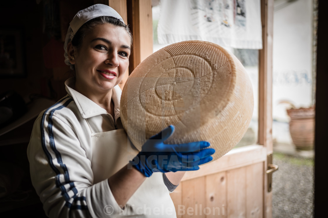 """The Cheesemaker - Amiata Arts & Crafts"" stock image"