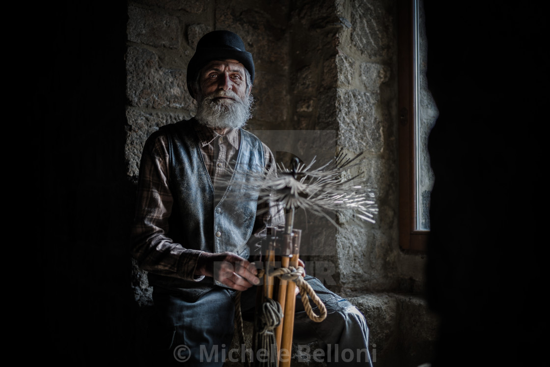 """The Chimney Sweep - Amiata Arts & Crafts"" stock image"