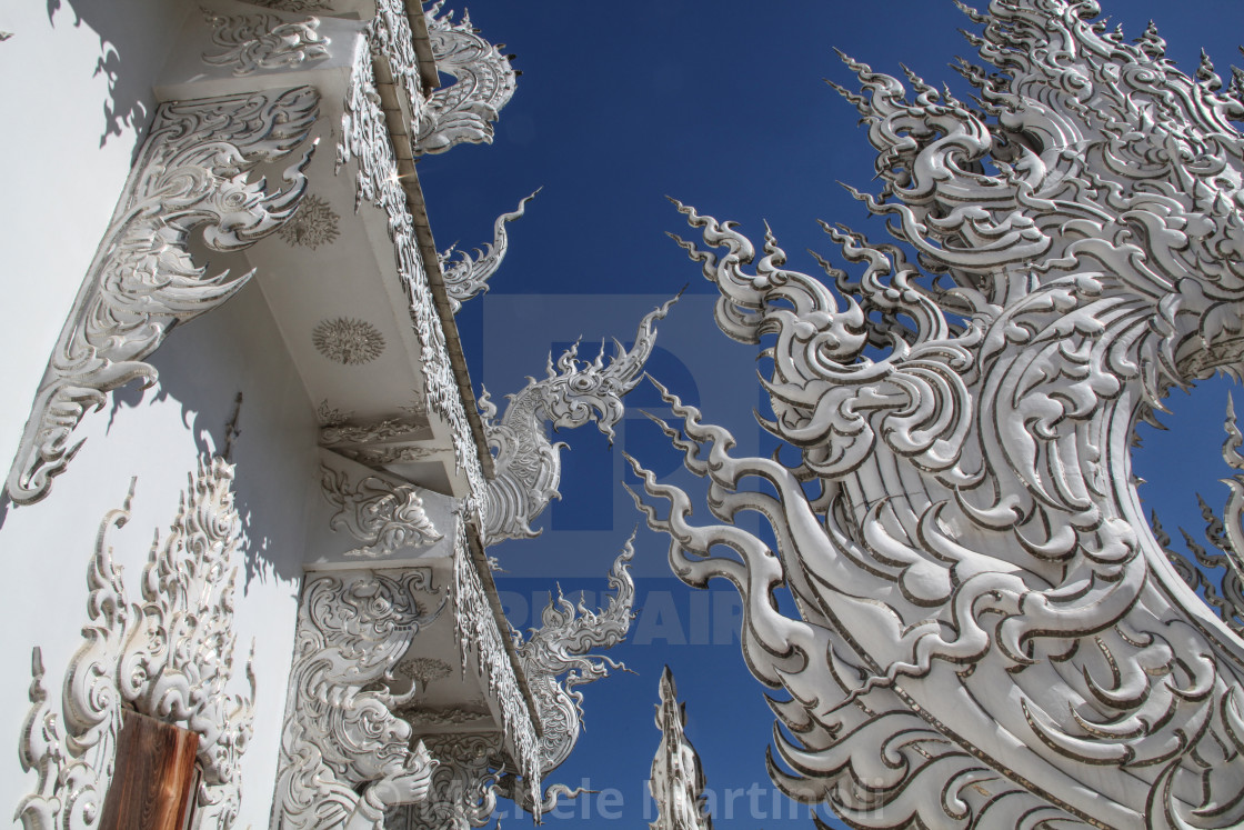 """Embellishment details of White Temple roof"" stock image"