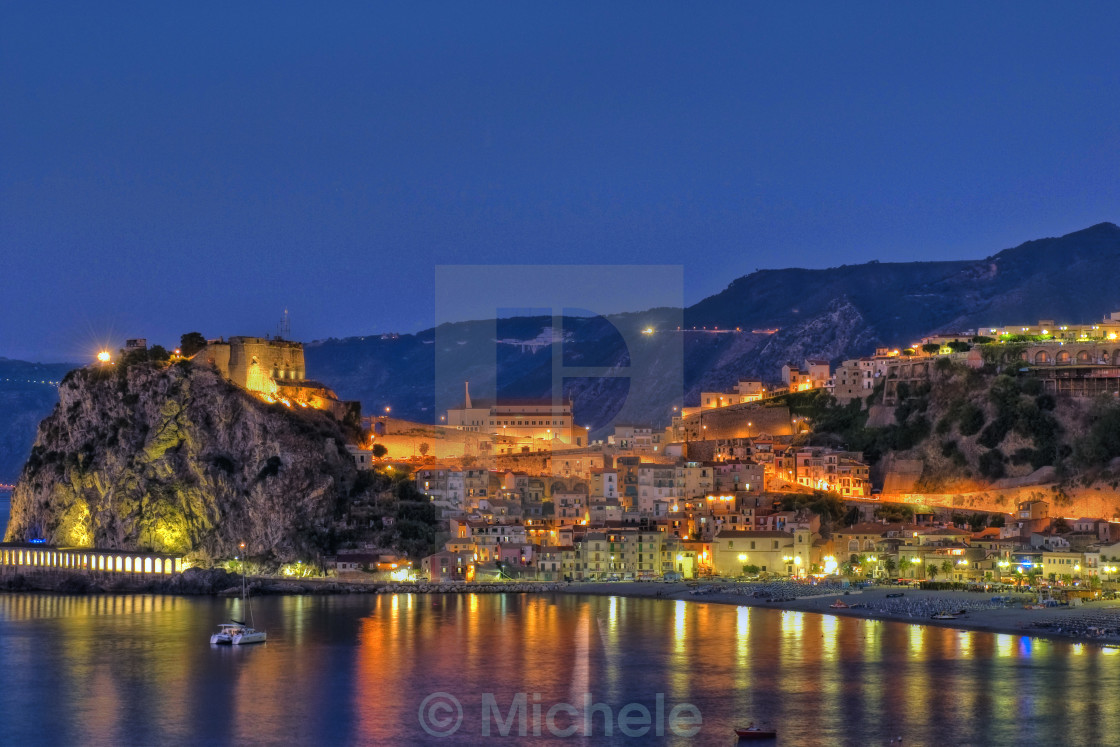 """Scilla by night"" stock image"