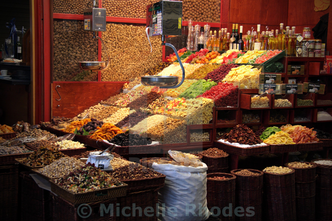 """Seedy Market Stall"" stock image"