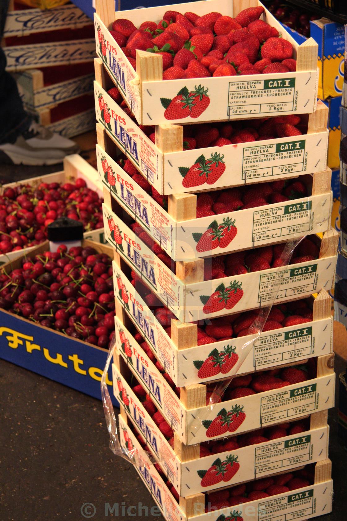 """""""Strawberries & Cherries"""" stock image"""