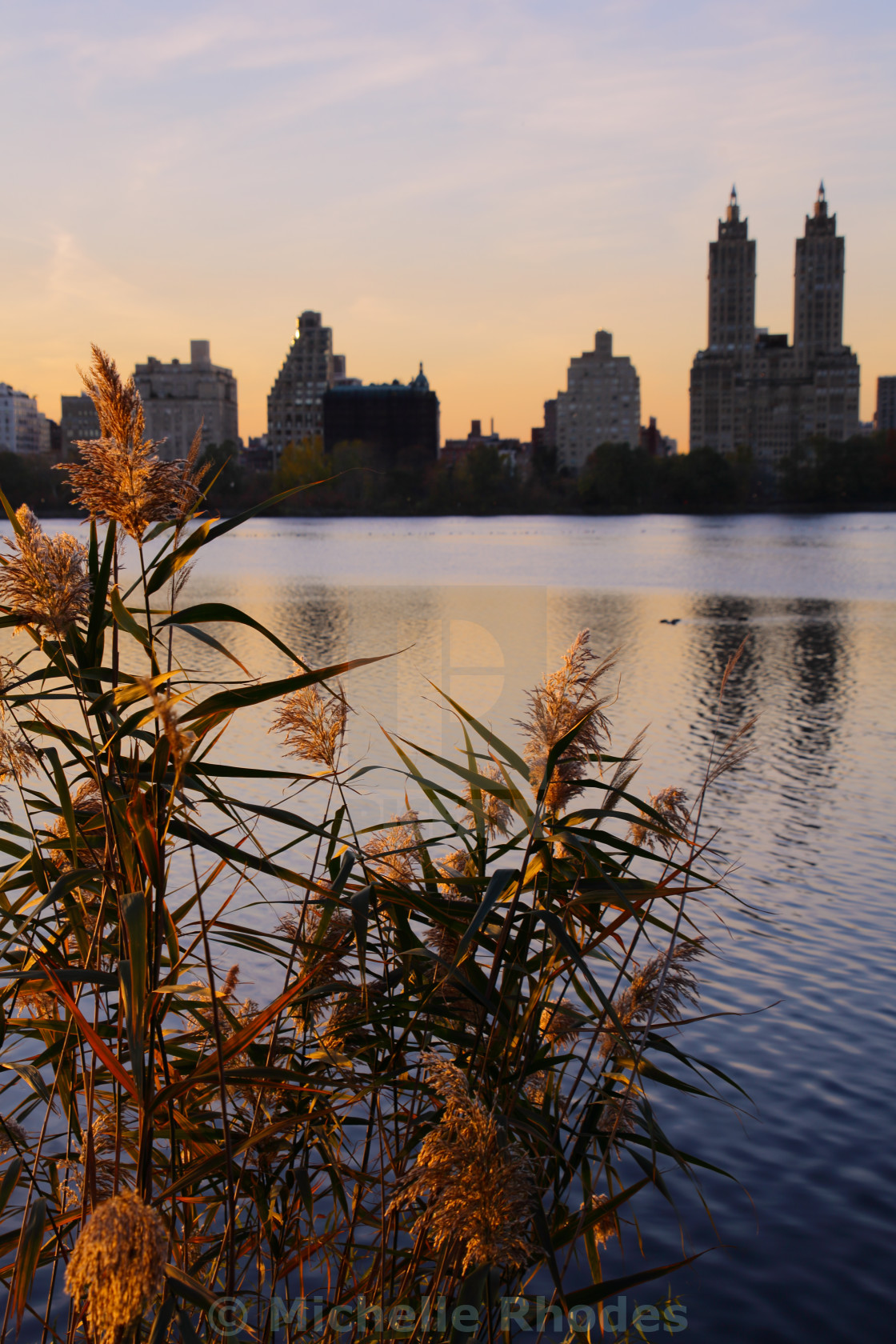 """Central Park Lake"" stock image"