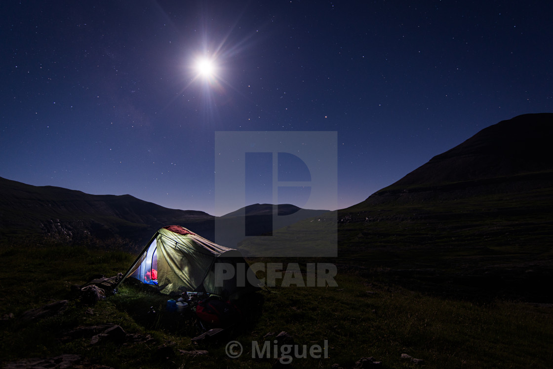 """Under the moonlight"" stock image"
