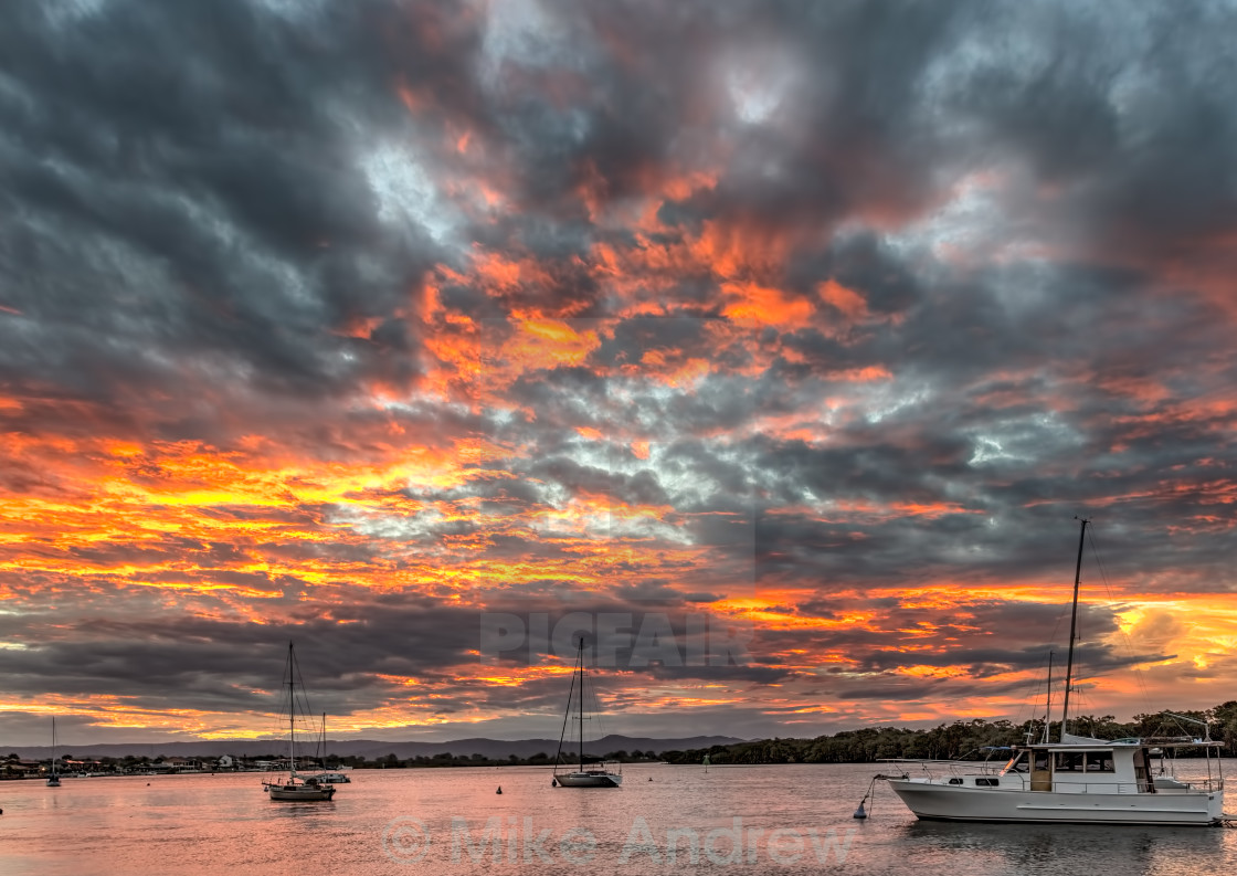 """""""Red Sky at Sunset"""" stock image"""