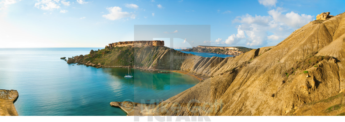 """Coastal Panorama"" stock image"