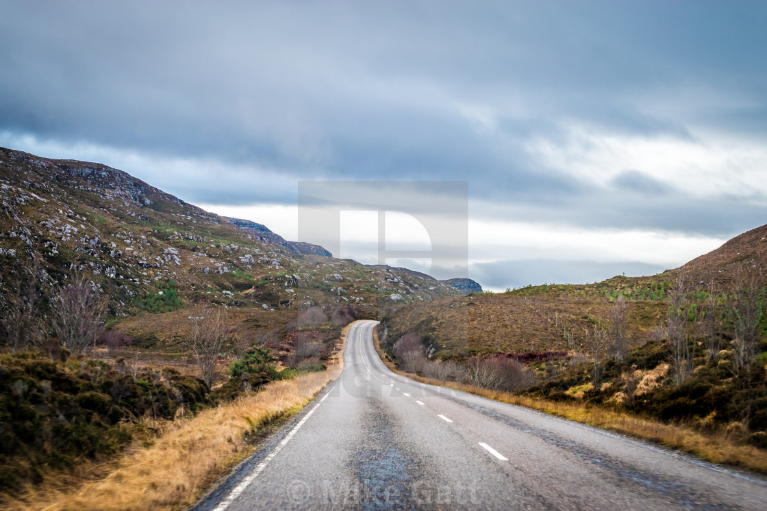 """Highway to the Highlands"" stock image"