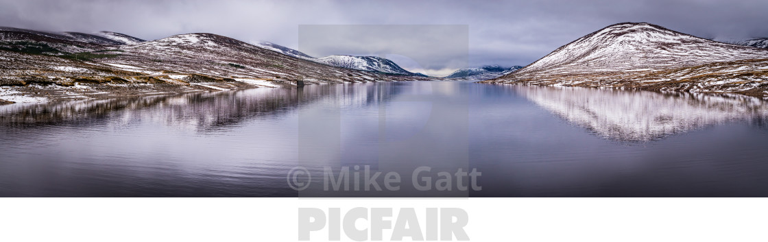 """Highland Loch reflecting"" stock image"