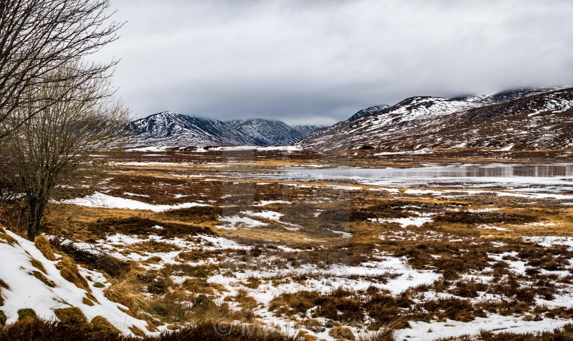 """""""Scottish Highland scenery."""" stock image"""