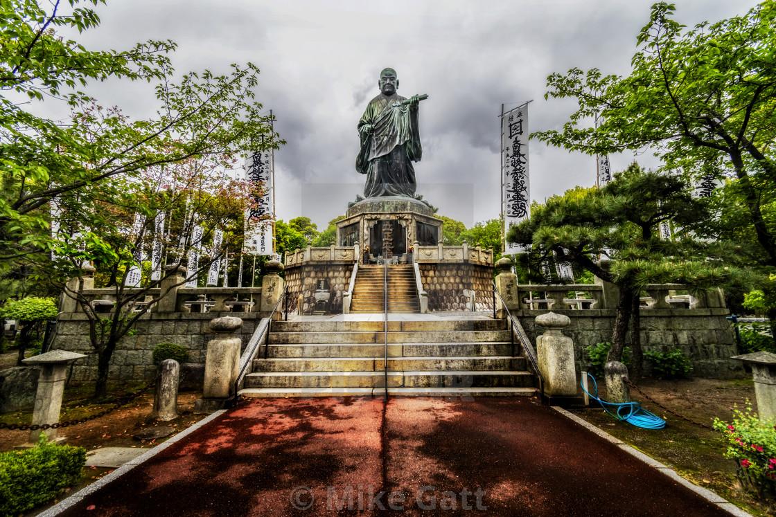"""""""Nichiren Shonin Statue, Fukuoka"""" stock image"""