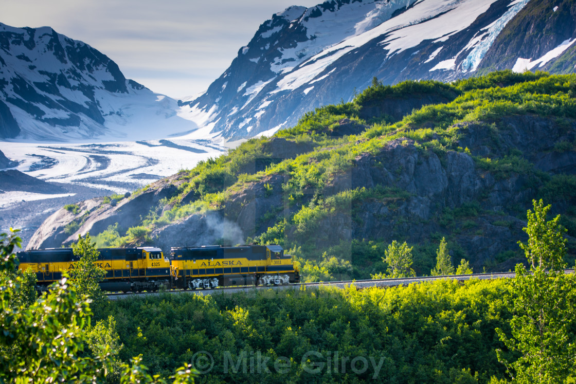 """Alaska Railroad"" stock image"