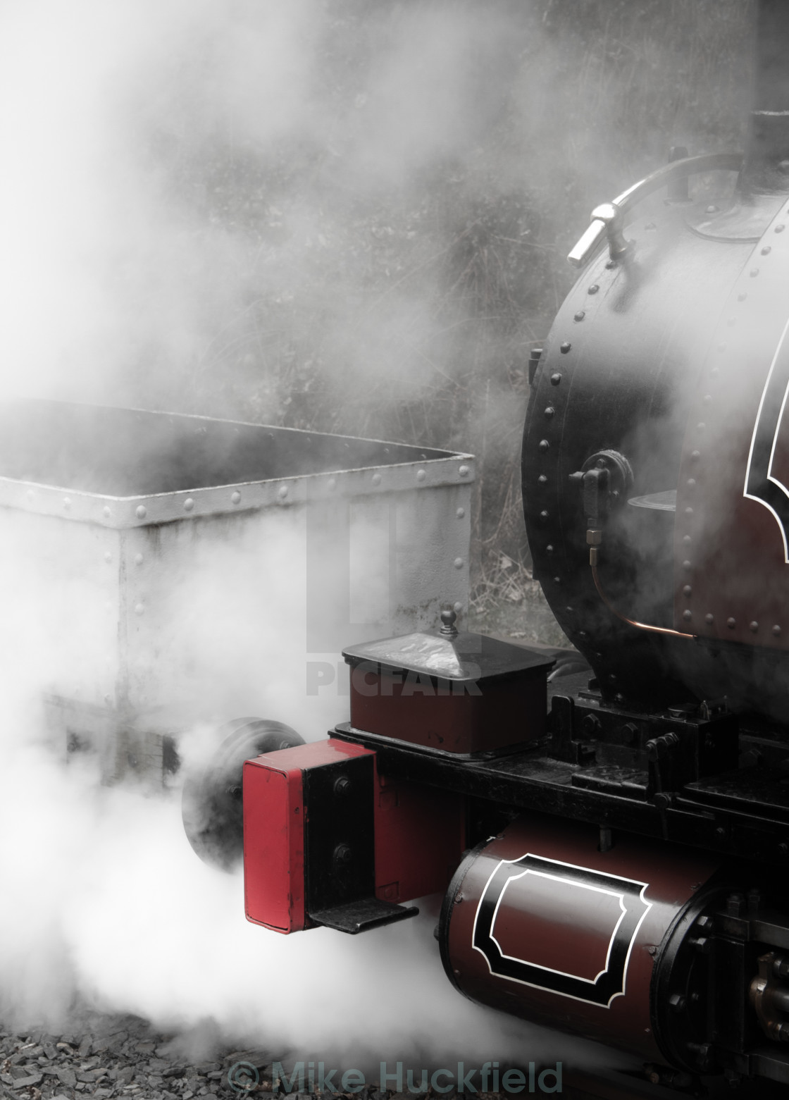 """""""Letting Off A Little Steam"""" stock image"""