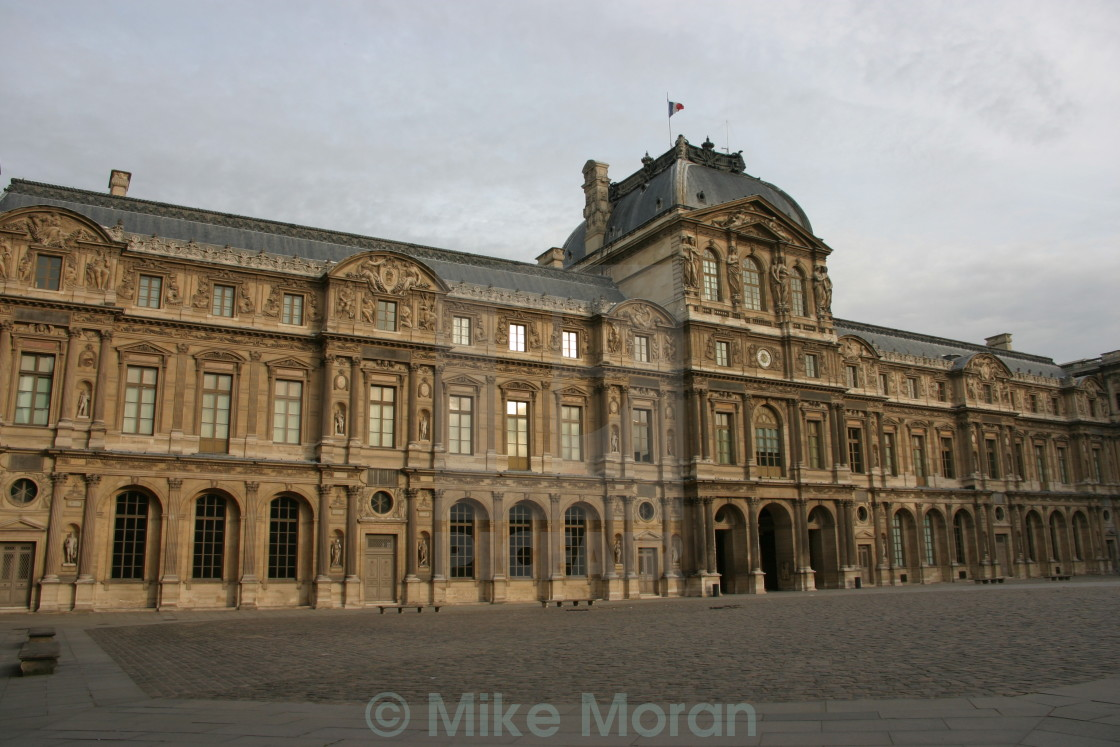 """Louvre at dawn"" stock image"