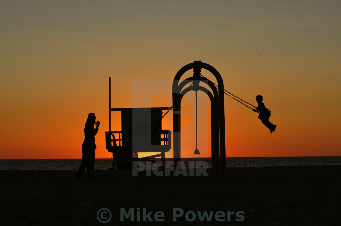 """Family Swingset"" stock image"