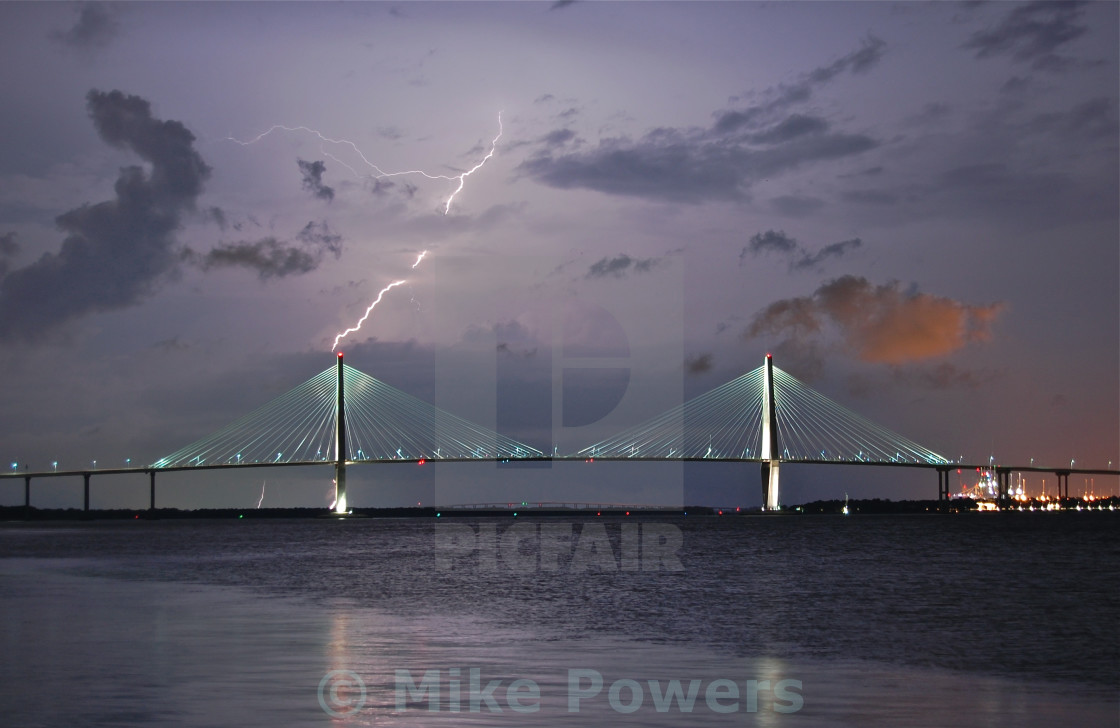 """Lightning Bridge"" stock image"