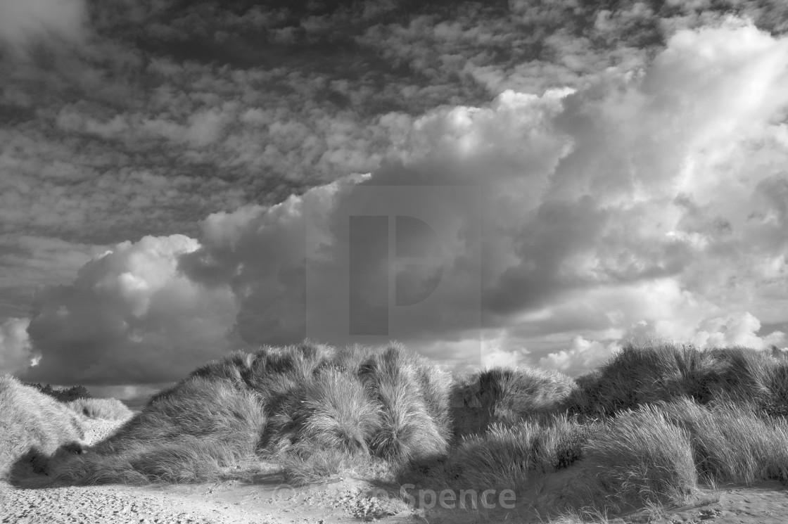 Sand dunes at Newborough Beach on Anglesey