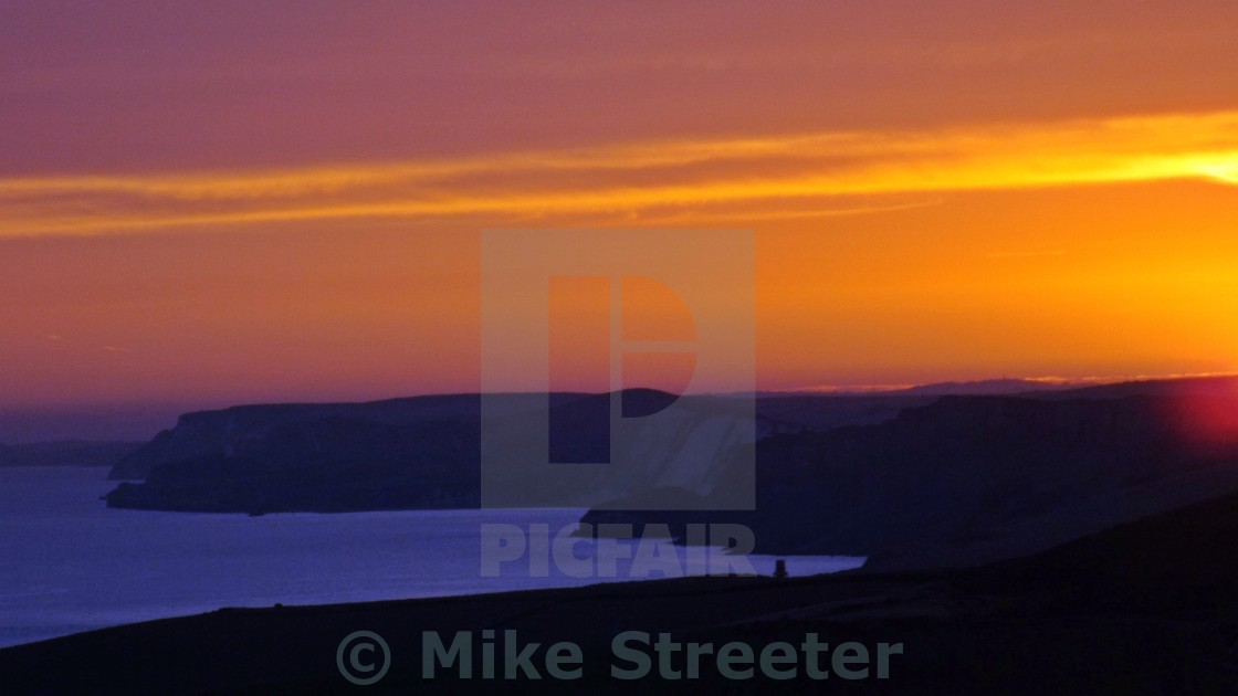"""Sunset over Kimmerdige"" stock image"