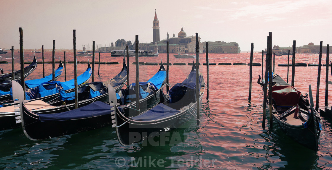 """Venetian taxi rank"" stock image"