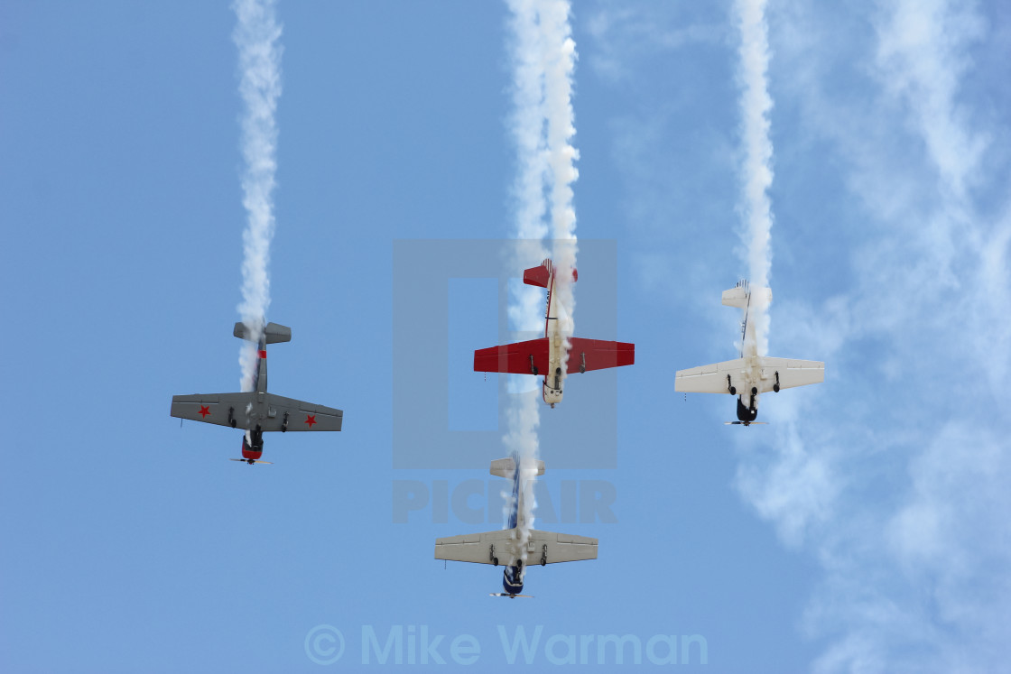 """Aerobatic display"" stock image"
