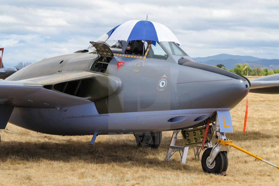 """de Havilland Venom"" stock image"